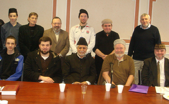 Muzaffar Clarke 1st English Desk Meeting with Imam Sahib