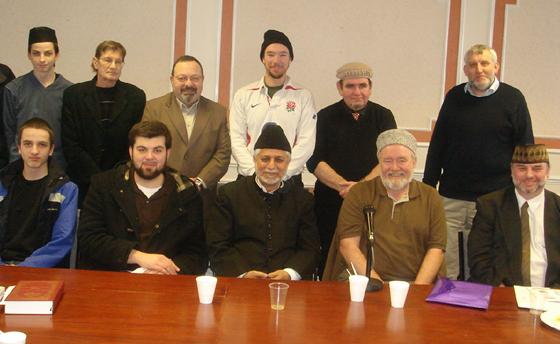 Muzaffar Clarke 1st English Desk Meeting with Imam Sahib