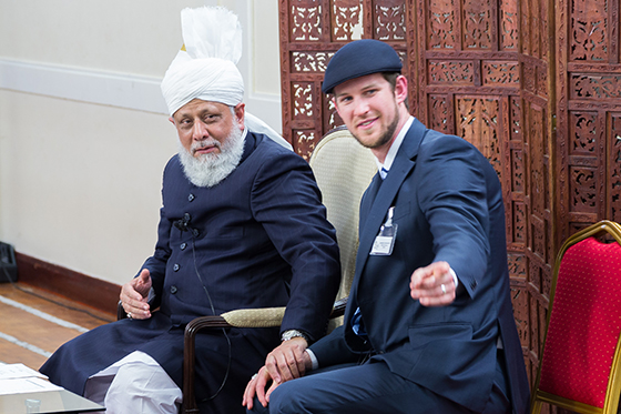 Jonathan Butterworth with Huzoor